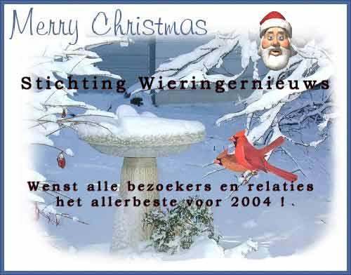 De crew wenst u prettige kerstdagen en een gelukkig 2004