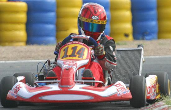 Danny met Formule-1 snelheden in actie
